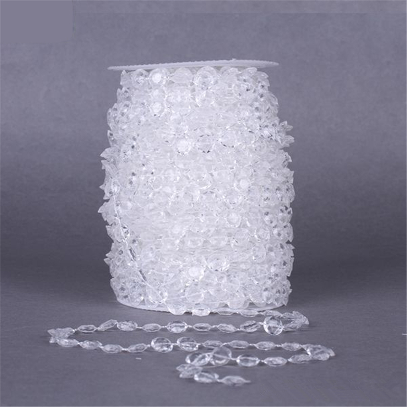 10mm 1m DIY Garland Diamond Acrylic Crystal Curtain Acrylic Crystal Bead Curtain Wedding DIY Party Decor Crystal Curtain Wedding in Party DIY Decorations from Home Garden