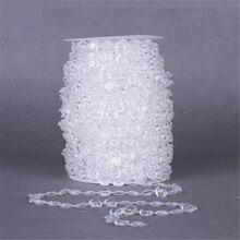 10mm 1m DIY Garland Diamond Acrylic Crystal Curtain Bead Wedding Party Decor