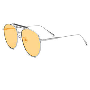 Driving Sunglasses Frame UV400 Yollow-Lens Man Women with Box Metal Come New