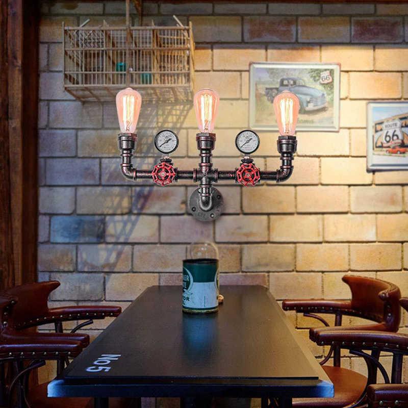 Retro eisen rohr lampe land menschen industrielle vintage wand lampe für wohnzimmer loft deco auf der wand Dampf punk montieren
