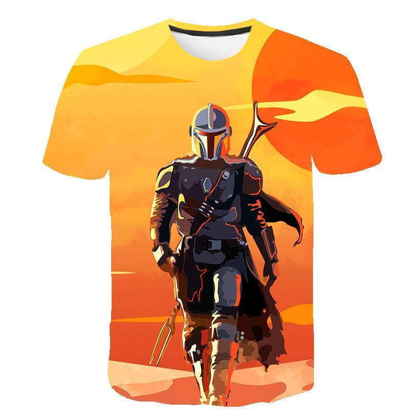 Star Wars Mandalorian T -Shirt Men 'S Fashion Casual T -Shirt 3d Printing Star Wars Movie T -Shirt Casual Sport T -Shirt Summer
