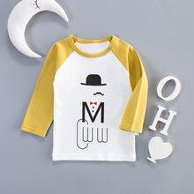Детские футболки для мальчиков и девочек детская одежда осенняя