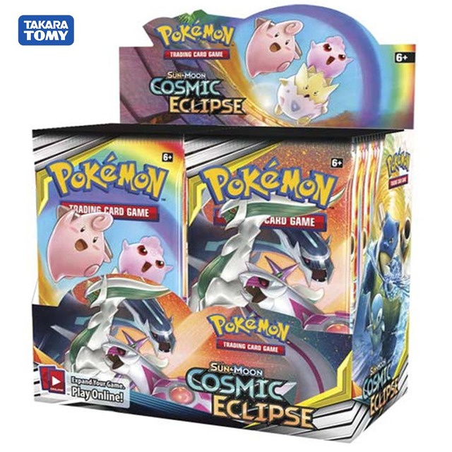 $ US $16.63 324Pcs New style Pokemon Pocket Monster Trading Card Game Sun & Moon (SM12) Cosmic Eclipse Collection Game Cards Toys