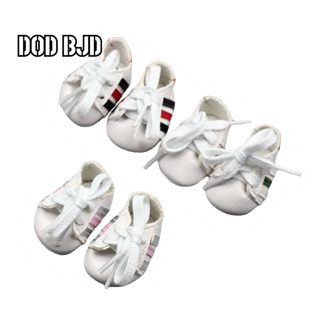 DOD BJD 14.5inch girls Doll Sport Shoes For 20cm Plush EXO mini Shoes Doll Dress Accessory toys 4.5*2.7cm