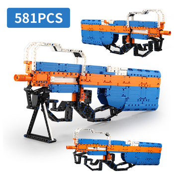 Military Swat Weapon Technic Building Blocks Guns P90 M1887 City Police Soldier Builder Series Toy WW2 Army Brick Boys Gift Toys