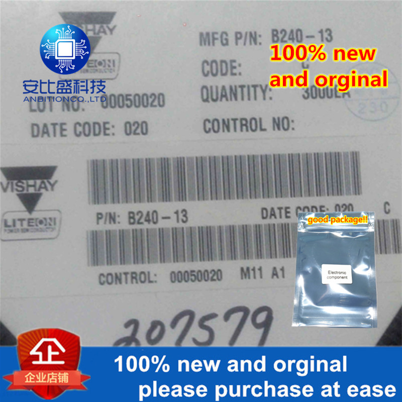 50pcs 100% New And Orginal B240 2A40V DO214AA In Stock