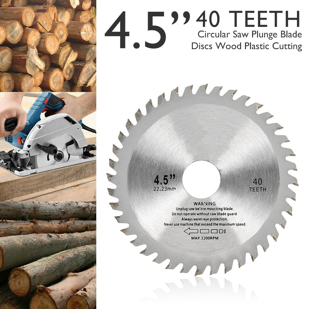 1pc 115mm 40 dentes circular carboneto viu lâminas de corte de madeira para ângulo moedor viu disco cortador de madeira lâmina de serra para corte de madeira