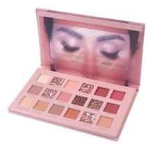cai ji Douyin 18 se Eye Shadow Huda Pearly Lustre Pumpkin Color Earth Color Not Smudge Eyeshadow Compact Rose Desert Hot Selling