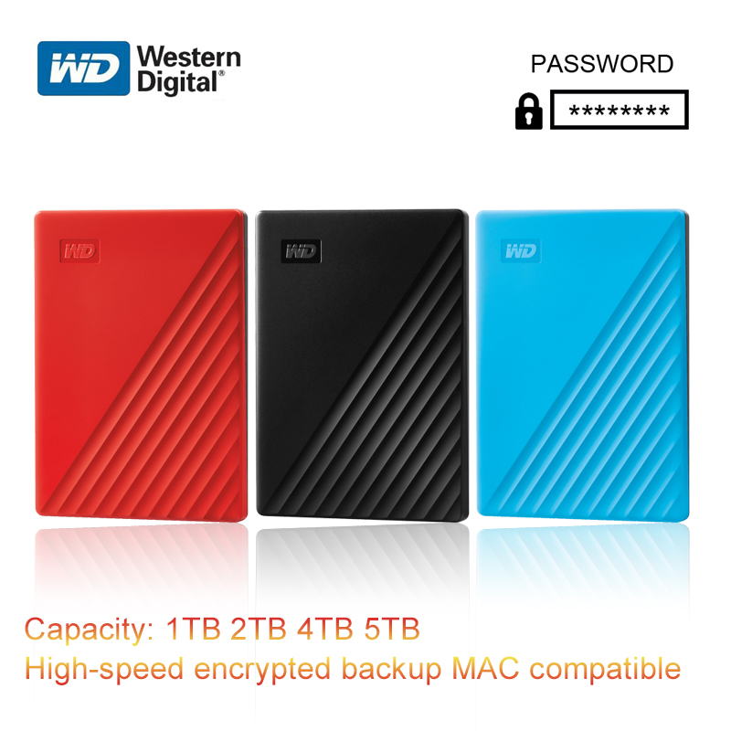 Western Digital WD My Passport 1TB 2TB 4TB 5TB External Hard Drive Disk WD Backup software and password protection HDD storage image