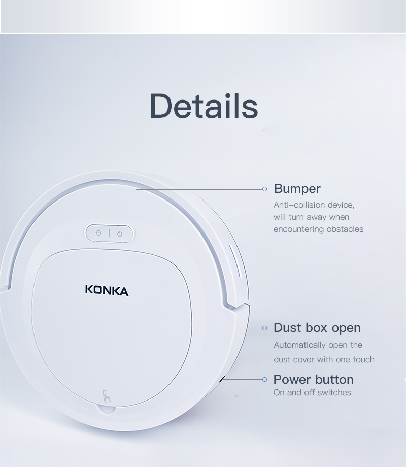 IKONKA V88 Automatically Chargeable Robot Vacuum Cleaner For Hard Floors and Carpet 20