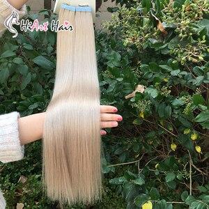 Image 4 - HiArt Extensions de cheveux naturels, avec bande, Balayage, trame de cheveux naturels lisses, Double tirage, pour Salon de coiffure, 18, 20 ou 22 pouces, 2.5g par pièce