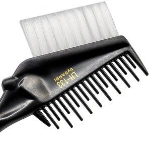 Image 4 - Pro peine para tinte de pelo con punta trasera de Metal, doble uso con tinte de pelo suave de nailon, tinte de salón para el cabello, cepillo para peluquería, 1 unidad
