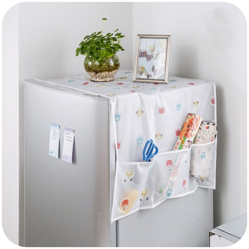 Multifunction Lattice Refrigerator Dust Proof Cover Pouch Organize Storage Bags Non-woven Foldable Kitchen Accessories