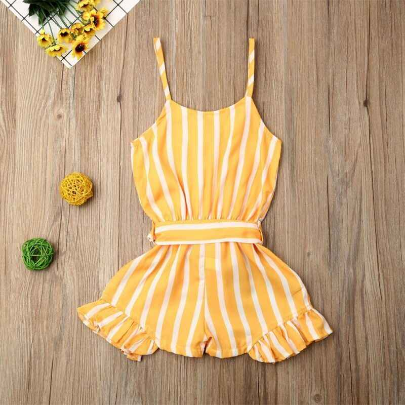 Kleinkind Mädchen Overalls Gestreiften Bodys Kinder Kleinkind Baby Mädchen Bodysuit Romper Overall Overall Sunsuit Kleidung Set 3-7Y