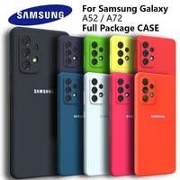 Funda de silicona para Samsung Galaxy A52, 5G, 4G, suave, Original, A72, 4G, 5G