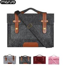 MOSISO 13 13.3 15 15.6inch Felt Laptop Sleeve Bag for Macbook Air Pro 16 inch A214 Notebook Briefcase Messenger Shoulder Bags