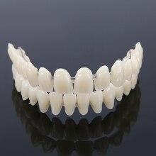 Anti-whitening Fake Tooth Cover Full Set Upper Lower Shade Dental Synthetic Resin False Fake Teeth Denture Care