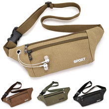New 2021 Canvas Men's Waist Packs Bag Outdoor Sports Mountaineering Bag Fitness Running Chest Bag Ultra-light Mobile Phone Bag