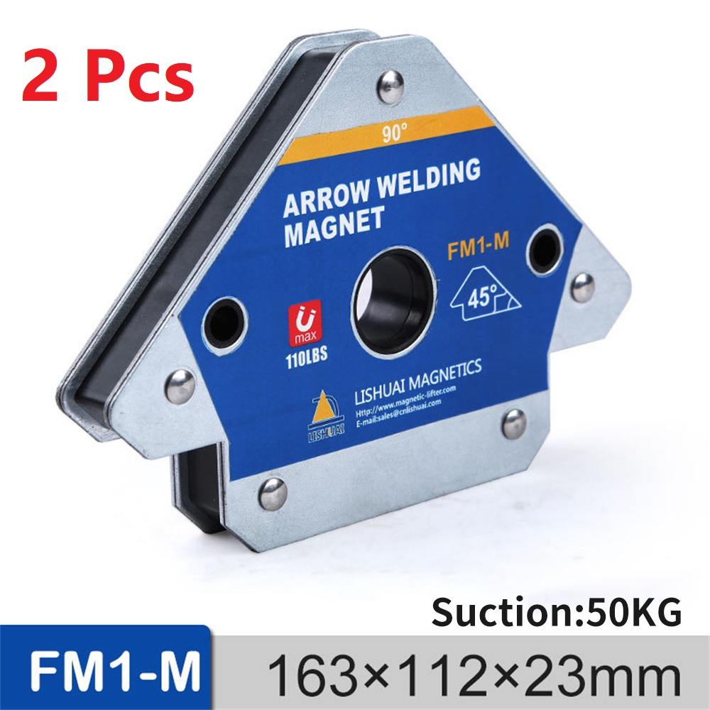 2PCS 110LBS Magnetic Welding Holder Corner Positioner Soldering Locator for Welding Angles Magnetic Welding Magnet Holder FM1-M