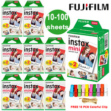 Fujifilm-Película de papel fotográfico Instax Mini 9, borde blanco, para cámara LiPlay, Link, Polaroid, Instant Mini 8, 7s, 25, 50s, 9, 90
