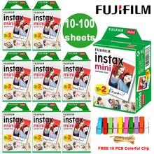 Fuji Fujifilm Instax Mini 9 필름 흰색 가장자리 사진 용지 필름 LiPlay Link Polaroid Instant Mini 11 9 8 7s 25 50s 9 90 카메라