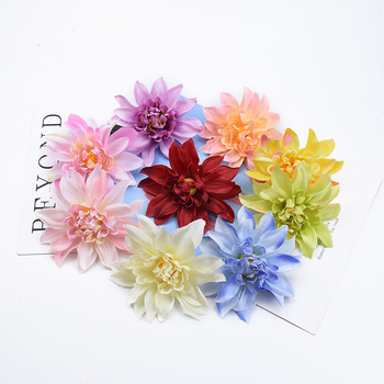 2/5/10 Pieces 10CM Silk Gerbera Dahlia wedding decorative flowers wall DIY needlework a cap home decor artificial flowers cheap image