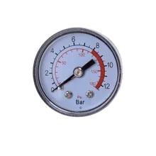 1PC 공기 압축기 공압 유압 유체 압력 게이지 0-12Bar / 0-180PSI