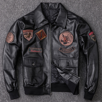 force Rule special air pilot leather jacket G1 sheep skin leather leather motorcycle suit men and cotton coat