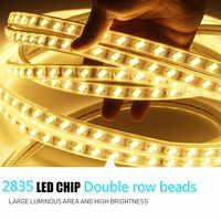 Гибкая светодиодная лента AC220V SMD5730 120 светодиодов/м водонепроницаемая светодиодная лента IP67 со штепсельной вилкой EU 1 м/2 м/3 м/8 м/10 м/12 м/20 м