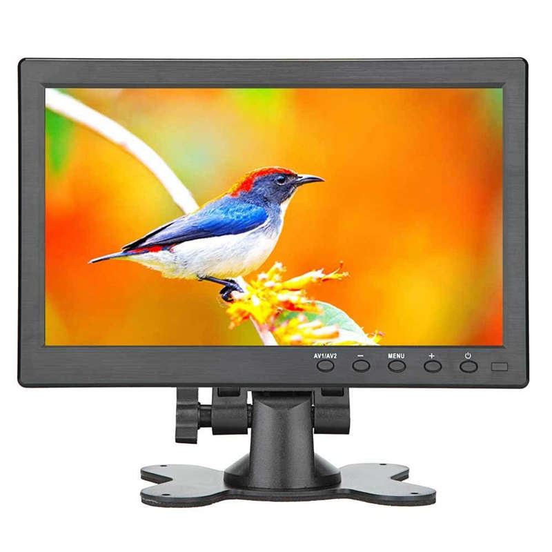 10.1 Inch Small Portable Laptop Computer Monitor With Hdmi Vga Port; Raspberry Pi Display Screen Monitor,Hd 1024x600 - Build Wit