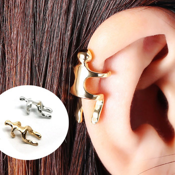 Women Cute Ear Clip Silver Color Gold Earrings Ear Cuff Fashion Ear Bone Clip Cartilage Earrings No Pierced Personality Jewelry image