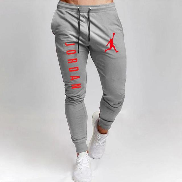2020 Casual Pants Men Joggers Sweatpants Solid Color Trousers Fitness Sportswear Jogger Track Pant Plus Size S-2XL Summer Spring 4