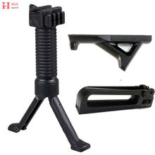 Plastic Militaire Tactische Fore Grip Bipod Pod Picattinny Weaver Rail Rifle Carry Handvat Dual Diafragma Paintball Schieten(China)