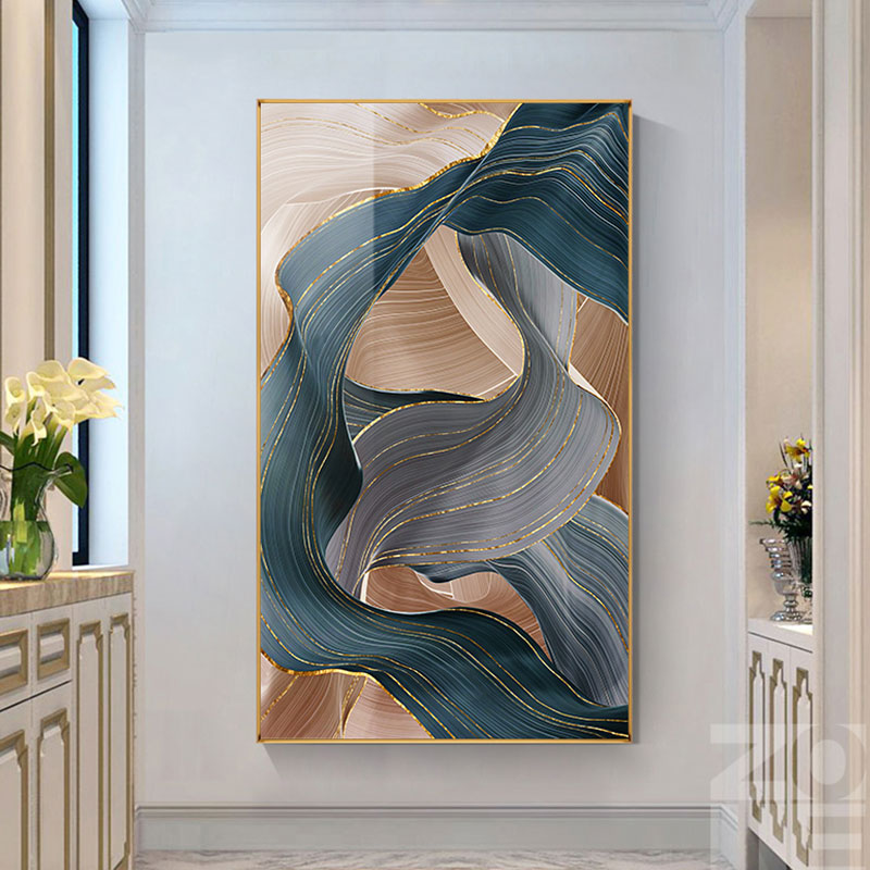 Nodic Art Poster Flickering Ribbon Posters and Prints Modern Wall Pictures for Living Room Bedroom Decorative Canvas Painting