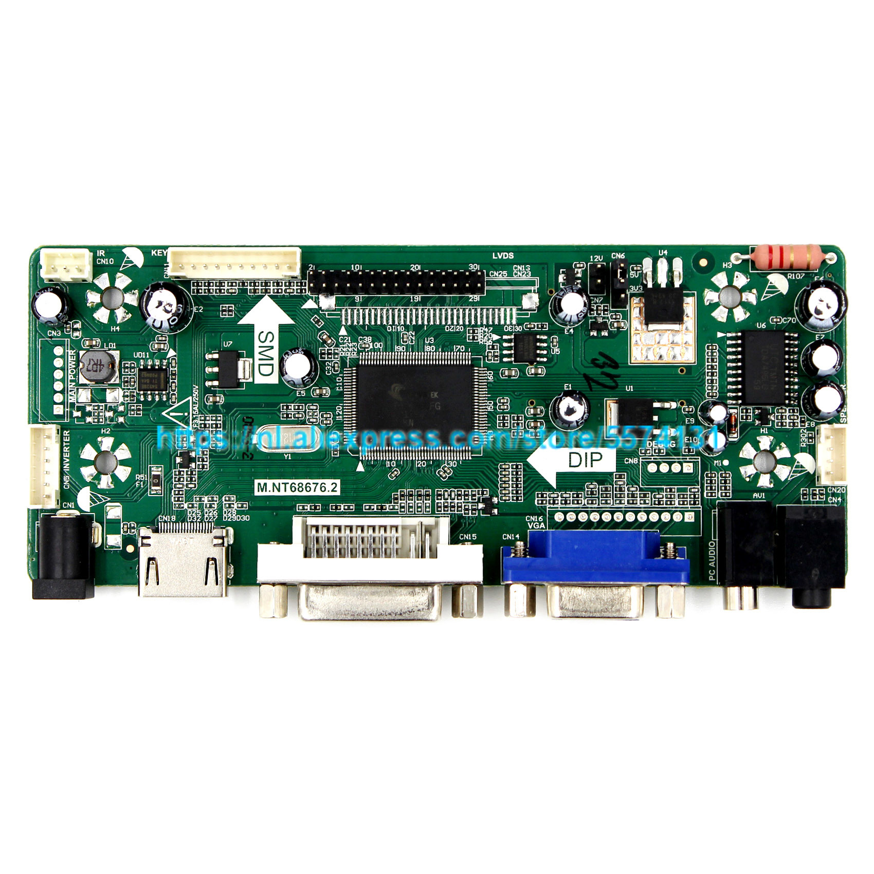 VGA+HDMI+DVI LCD LED screen Controller Driver Board Work Kit For B156HW01 V.7 V7