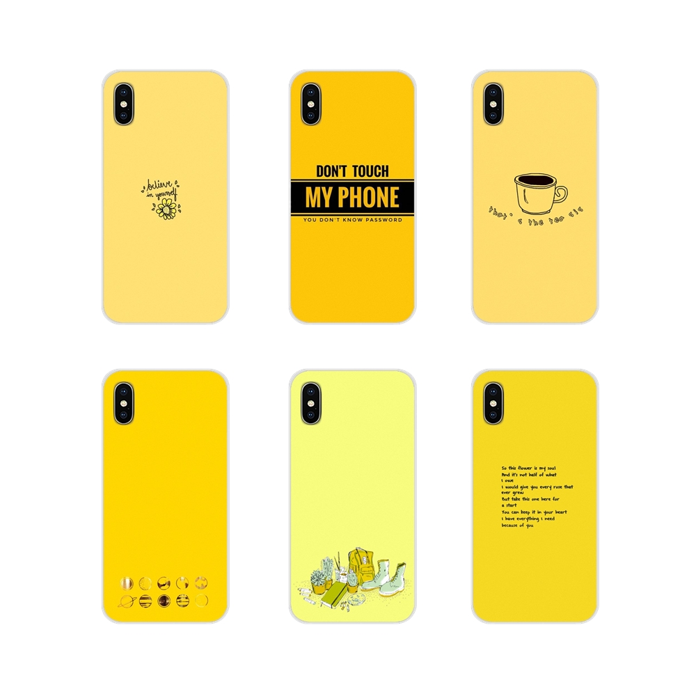For LG G3 G4 Mini G5 G6 G7 Q6 Q7 Q8 Q9 V10 V20 V30 X Power 2 3 K10 K4 K8 2017 Accessories Phone Shell Covers Yellow Aesthetic