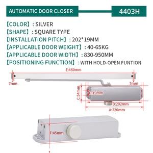 Image 5 - 油圧自動ドアクローザーセキュリティシステム調整可能な閉鎖/ラッチスピードアルミドア用 40 65 キロドアクローザー