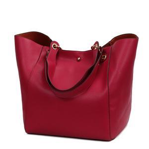 Image 2 - Women Leather Handbags Big Women Bag 2PCS/Set High Quality Female Bags Trunk Tote Ladies Large Shoulder Bag
