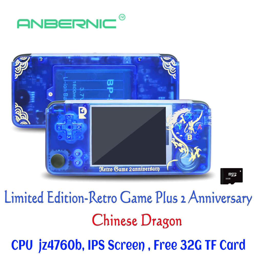 Rs-97 nouvelle édition limitée rétro jeu Plus anniversaire jeu vidéo 3000 jeux Omron 32G TF rs97 famille cadeau consola rétro ps1 IPS