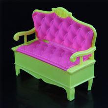 Mais novo 1/12 casa de bonecas móveis em miniatura sofá cadeira casal sofá banco bonecas casa acessórios