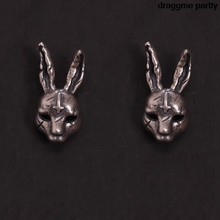 Cute gótico cruz lebre coelhos coelho animal jóias orelha vintage parafuso prisioneiro brinco
