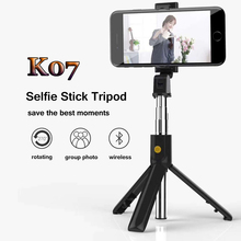 Remote Extendable Mini Tripod Wireless Bluetooth Selfie Stick for iphone/Android/Huawei 3 in 1Foldable Handheld Monopod Shutter