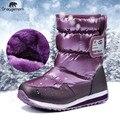 Детские водонепроницаемые ботинки  для мальчиков и  девочек  теплые зимние сапоги  подходят для русской зимы с морозами до -30 градусов   боти...