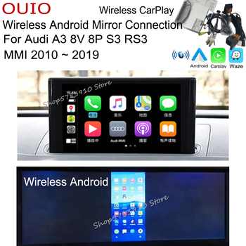 wireless Android AUTO Apple carplay interface For Audi A3 8V 8P S3 RS3 MMI MIB 2010 ~ 2019 Original Screen Rear camera Adapter image