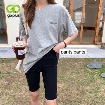 GOPLUS Summer Women's Biker Shorts Korean Style Black Elastic High Waist Skinny Shorts Women Spodenki Damskie Ropa De Mujer недорого