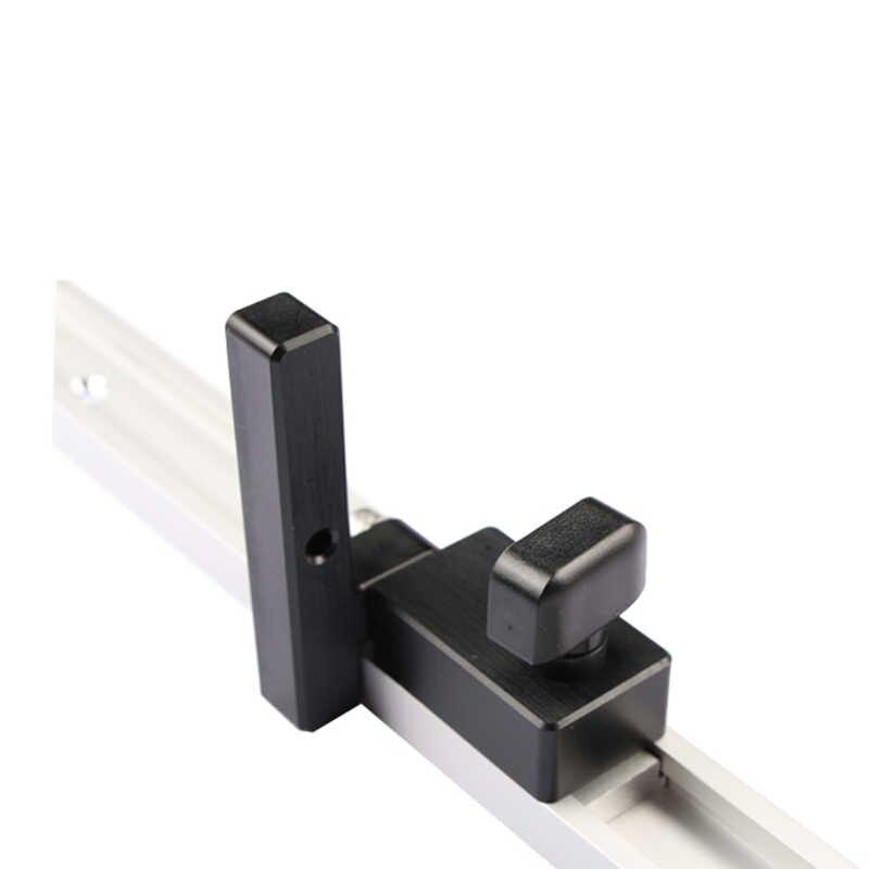 Деревообрабатывающий торцевой стопор для Т-образных дорожек DIY инструмент Торцевая стопор для дорожки алюминиевый сплав желоб ограничитель сальто руководство 1 шт.