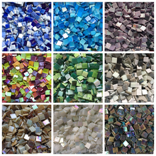 Mosaic Tiles Crystal Square Glass Magic-Colors Art-Material Diy-Crafts Creative Supplier