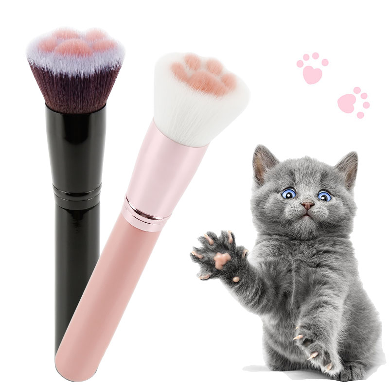 1pcs Cat Claw Paw Professional Makeup Brushes Cute Foundation Brush Cosmetic Beginner Long Lasting Concealer Blush Beauty Tool|Eye Shadow Applicator|   - AliExpress
