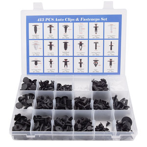 Image 2 - 415Pcs Car Auto Push Pin Rivet Trim Vehicle Body Plastic Push Pin Rivet Fastener Trim Clip Repair Assortment Kit for BMW E46 E39