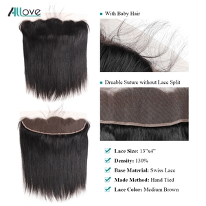 Image 4 - Malaysian Straight Hair Bundles With Frontal Allove Human Hair 3 Bundles With Closure 13X4 Lace Frontal With Bundles Non Remy